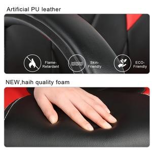 Image 3 - Yeni ayarlanabilir ergonomik ofis koltuğu yüksek geri suni deri oyun sandalyesi döner uzanmış yönetici yastıklı Footrest sandalye HWC