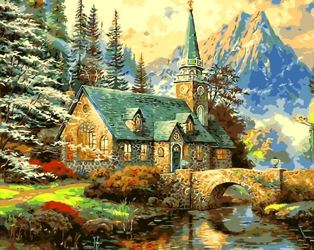 Sin marco pintura al óleo pintura by números diy foto de dibujo para ...