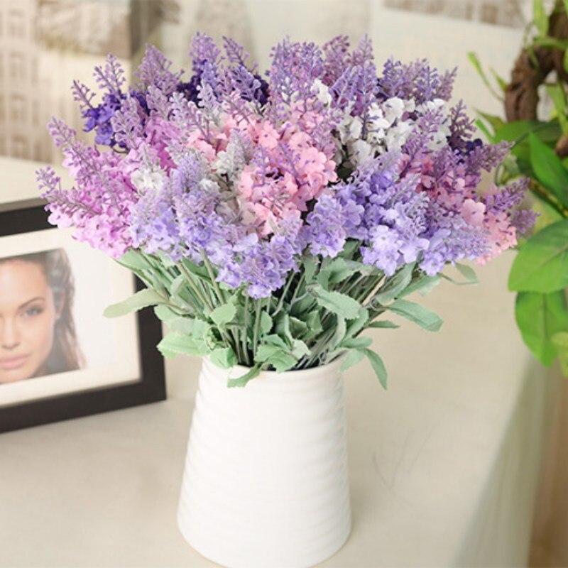 Spring Artificial Silk Flower Lavender Bouquet Home Wedding Garden Fl Decor New In Dried Flowers From On