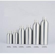 2pcs 40ml-250ml aluminum bottle Sub-bottle Aluminum with cover Sealing sticker wholesale BQ097