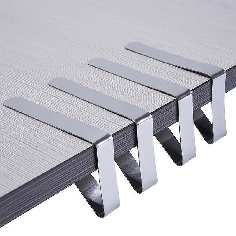 4X Stainless Steel Tablecloth Brackets Tablecloth Bracket Table Cloth Holder Clip