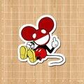 Deadmau5 Mickey Notebook/refrigerator/skateboard/trolley case/backpack/Tables sticker PVC sticker