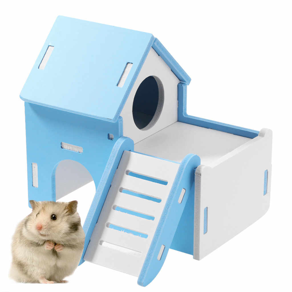 Small Pet Toy Entertainment Sport Game House Color Hamster Wooden Toy Ladder Exercise Hamster Ladder Brinquedos Jouet Bois
