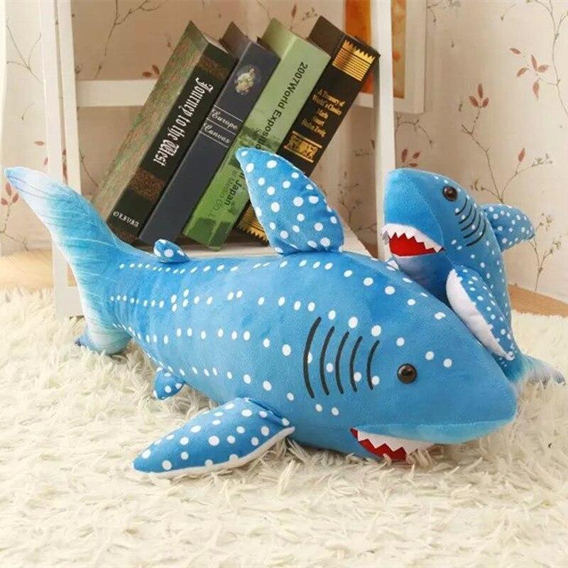 1.3 m Grande taille Nouveau Arrivé Bleu Requin En Peluche Jouet La Simulation en peluche Jouet Requin Doux Suffed Jouet Approvisionnement D'usine Cadeau Pour Les Amoureux
