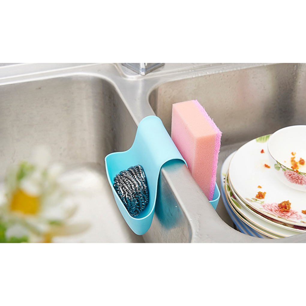 US $2.2 40% OFF|Hot sales Two Sided Kitchen Sink Sponge Holder Bag Drain  Dish Cloths bathroom Faucets Basket-in Storage Holders & Racks from Home &  ...