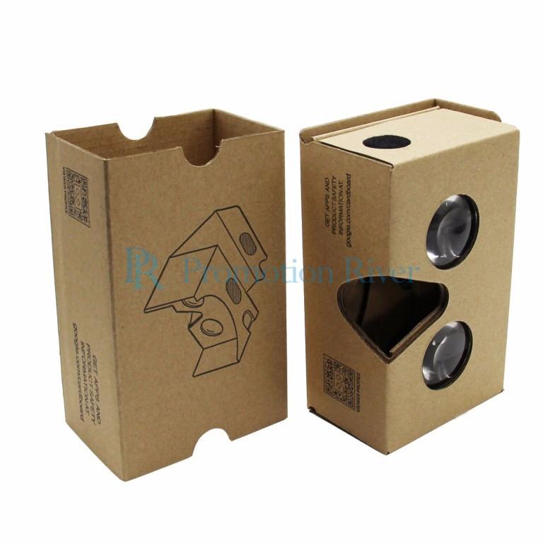 Event Supplies Logo Custom Google Cardboard V 2.0 Custom printing Virtual Reality Headset VR Viewer for up to 6 inch phone 11