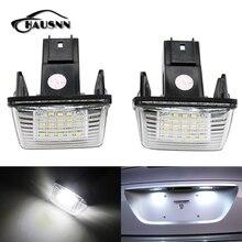 2 шт./компл. hausnn LED Номерные знаки для мотоциклов лампа 18smd белый Цвет замены для Peugeot 206 207 306 307 308 406 407 партнер