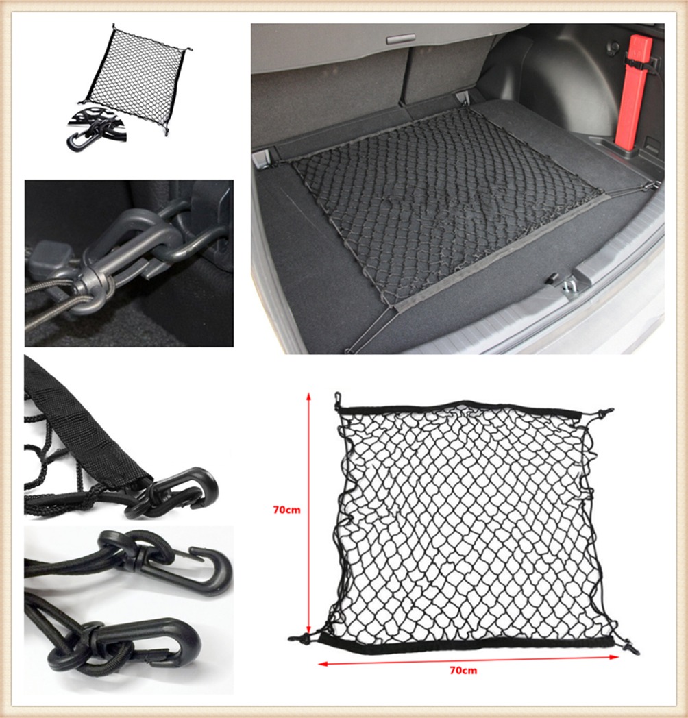 70 * 70cm Car Trunk Luggage Net Fragment Isolation Storage Bag For Mercedes Benz S550 S500 IAA G500 ML F125 E550 E350