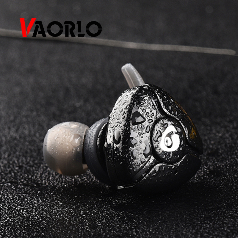 VAORLO Bluetooth Headset Mini Wireless Sport Stereo Earphone Noise Cancelling In Ear Earbuds Earpiece With Mic For Xiaomi Phone air acoustic tube interphone earpiece ptt mic radiation proof anti noise in ear earphone for motorola xpr xir dp apx series