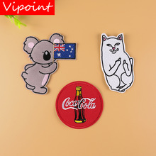 VIPOINT embroidery mouse cats patches cartoon animal badges applique for clothing YX-216
