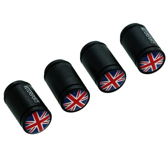 Hausnn 4pcsset Car Accessories Valve Caps Uk England Flag Logo For