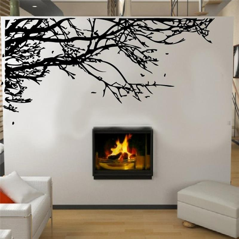 venta caliente de gran tamao del rbol negro rama pegatinas de pared que viven decoracin de