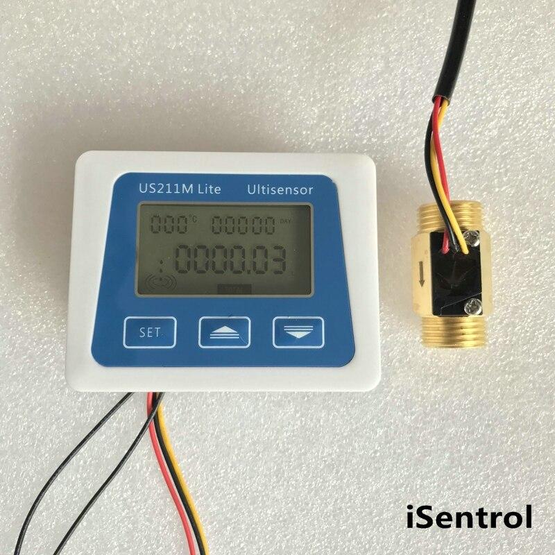 US211M Lite USC HS21TI 1 30L min Digital Flow Meter 5V Flow Reader Compatible with all
