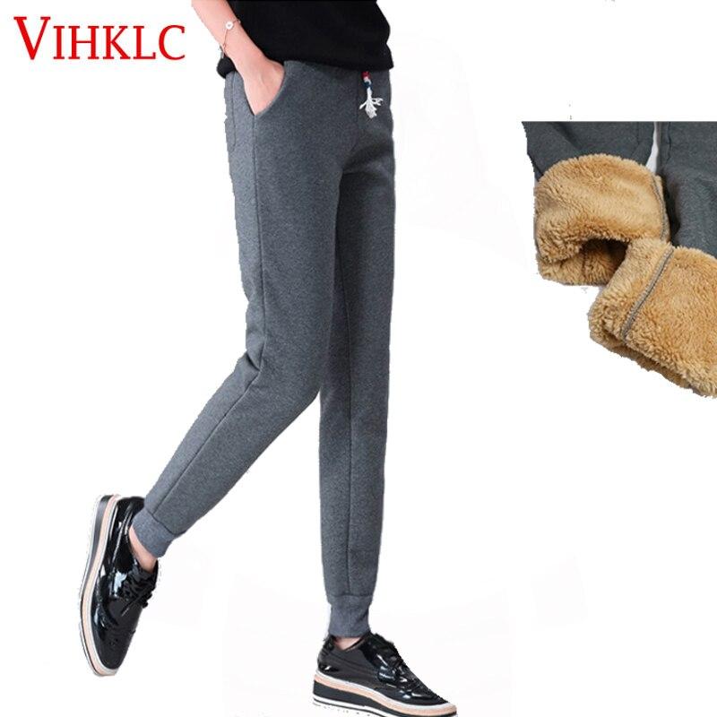Jogger Stretch Fleece Thick 5xl Dark Velvet 2 Gray 1 Pants Sale Women Edge Warm Gray Trousers Loose Sweatpants Hot Sportwear H605 Black 3 Size Winter Plus FxwZz05q