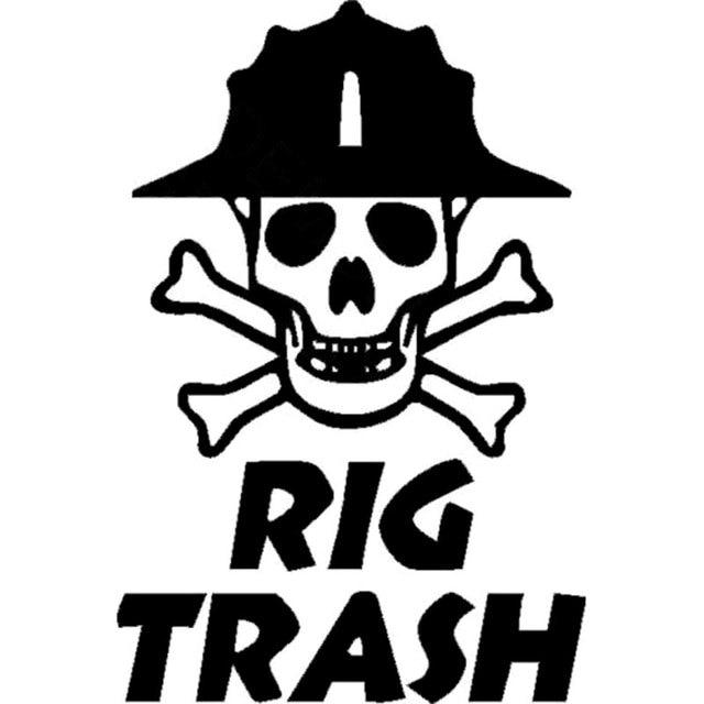 103cm152cm Oil Rig Vinyl Decal Rig Trash Skull Rig Hand Roughneck