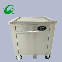 60cm thailand square pan ice roll machine Automatic temperature control rolled fried ice cream machine with foot defrost