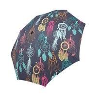 Color plume pattern printing Auto Open Close Folding Sun Rain Foldable Umbrella 100% Fabric Aluminium High Quality Umbrella