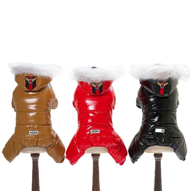 Impermeabile e snowproof snowsuit style pet vestiti del cane di inverno quattro
