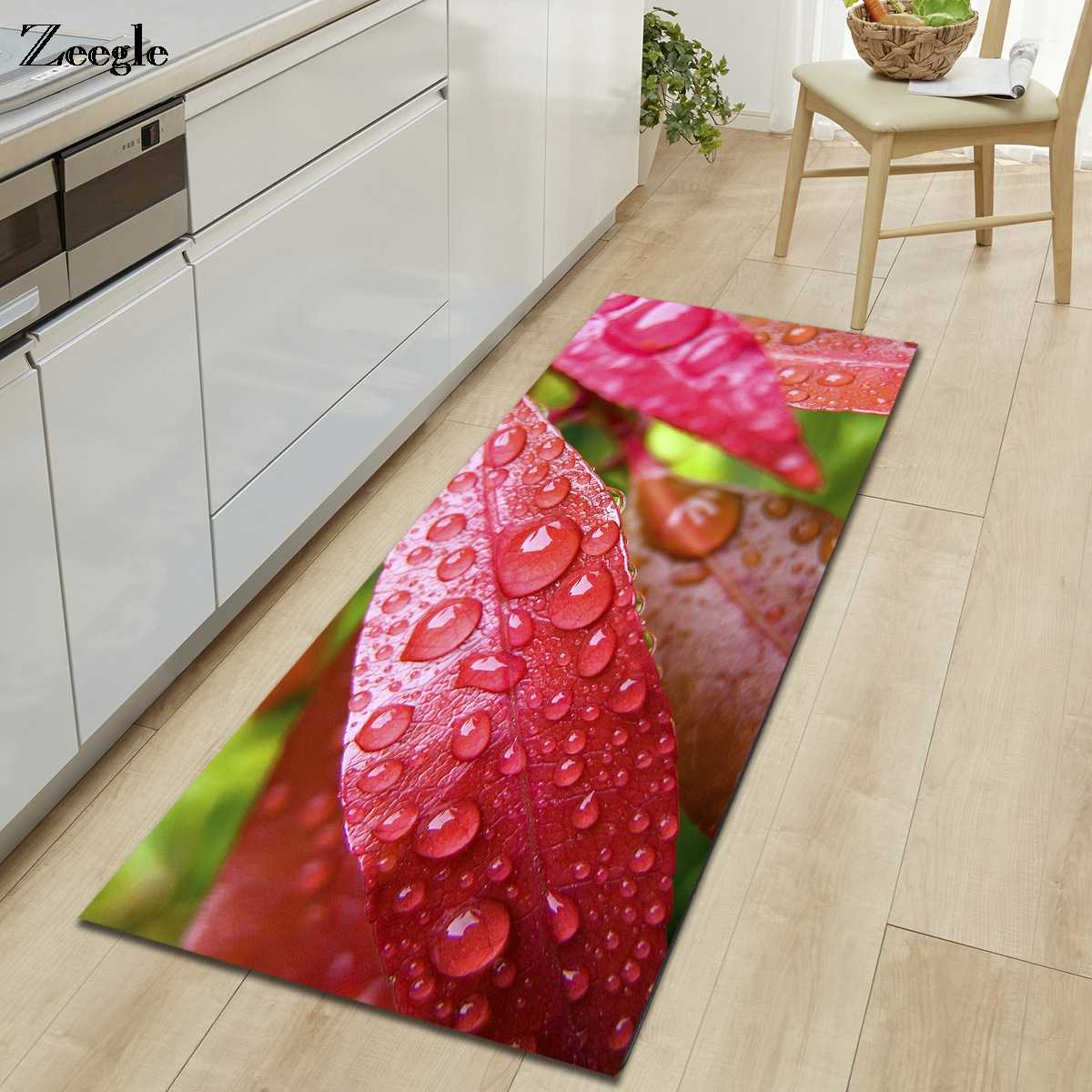 Zeegle 3D 台所の床マット抗スリップのためのリビングルームのベッドルームのカーペットベッドサイド敷物浴室フットマットホームドアカーペット