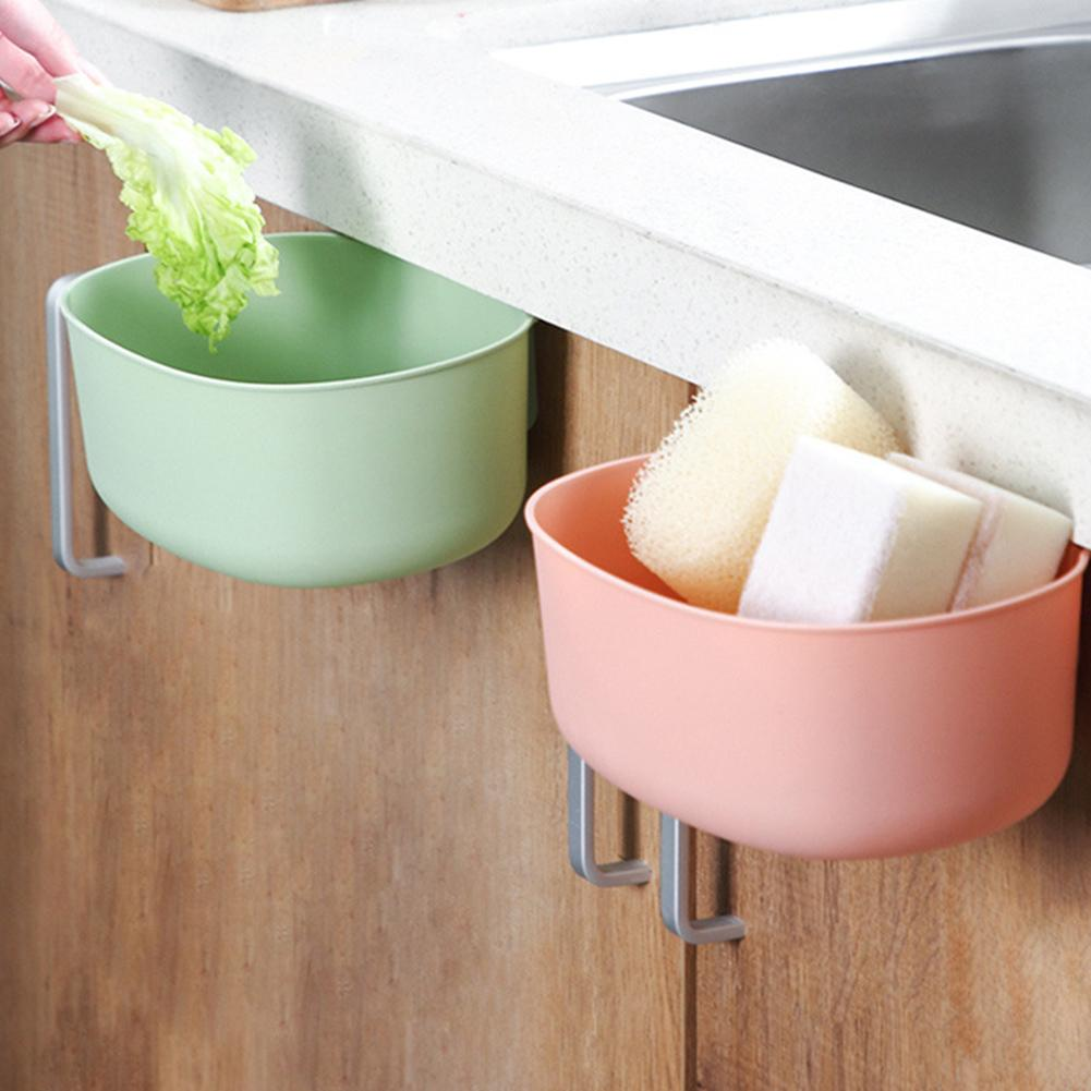 Kitchen Cabinet Door Hanging Rubbish Trash Bin Can Sundries Holder Container Trash Garbage Bin Can For Home Cleaning Accessories