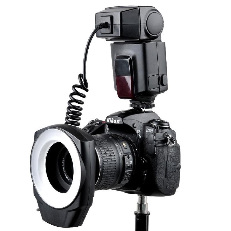Godox ML 150 Macro Ring Flash Light Speedlite with 6 Lens Adapter Rings for Canon Nikon