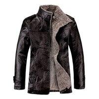 New 2019 Mens Leather Jackets Classic Motorcycle Bike Cowboy Jacket Male Velvet Casual PU Coats Brand Clothing Plus Size 8XL