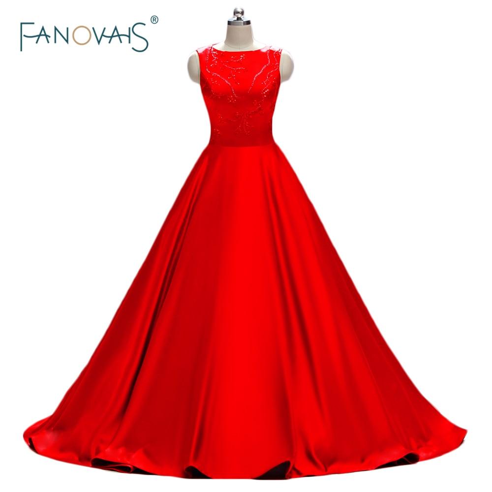 Sexy Robe de soiree Red Prom Dress Beaded Unique Style Long - Հատուկ առիթի զգեստներ