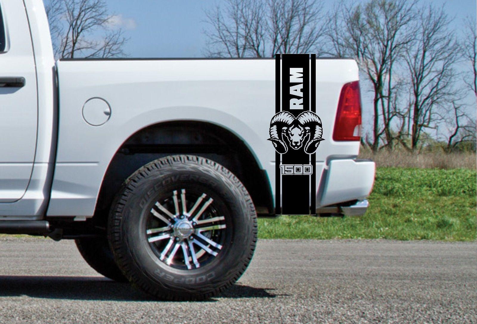 kit fits vinyl truck ram stripes line graphics decals side dodge models spears spikes hustle body hood