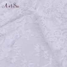 ArtSu 2017 Pregnant Women Maxi See Through Floral Elegant Lace Long Dress Sexy Summer Evening Party Dresses Vestidos ASDR20033