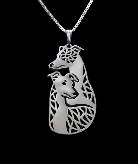 ויפט גרייהאונד כלב שרשרת כלב זוג תכשיטי כסף לנשים/זהב שני צבעים