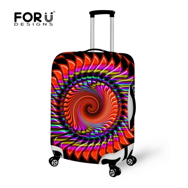 Moda colorido cobertura de bagagem elástica, Impermeável tampa mala apiicar para 18 - 30 polegada mala, Bagagem acessórios
