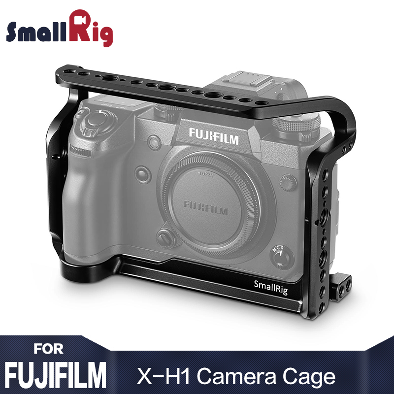 SmallRig Dual Camera Cage For Fujifilm X-H1 Camera Cage Form Fitting With Nato Rial Built-in Arca Swiss plate 2123