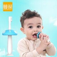 2 Heads Mushroom Silicone Baby Teether Kids Teething Children Toothbrush Baby Child Tooth Brush Newborn Banana