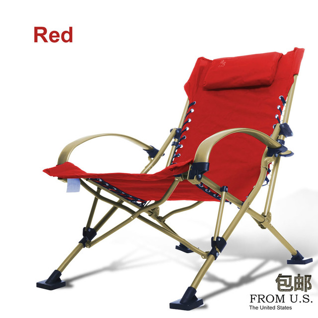 Fishing Chairs Beach Chair Portable Folding Chair Aluminum Folding Outdoor  Chairs 4 Color Load 300KG Armchair