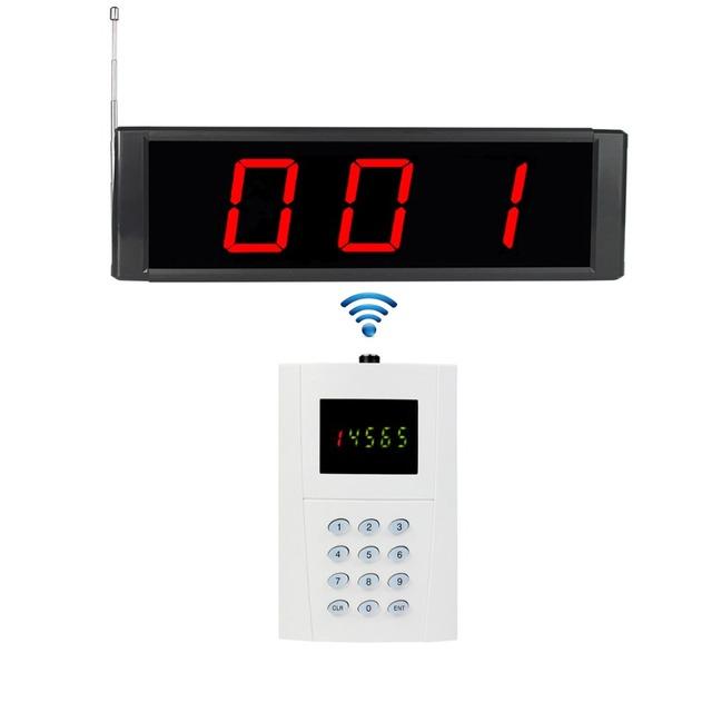 433 MHz Receptor de Radiodifusión de Paginación Del Sistema de Llamada de Servicio Inalámbrico 1 Informes de Host + 1 Teclado Tipo Restaurante Pager F3270