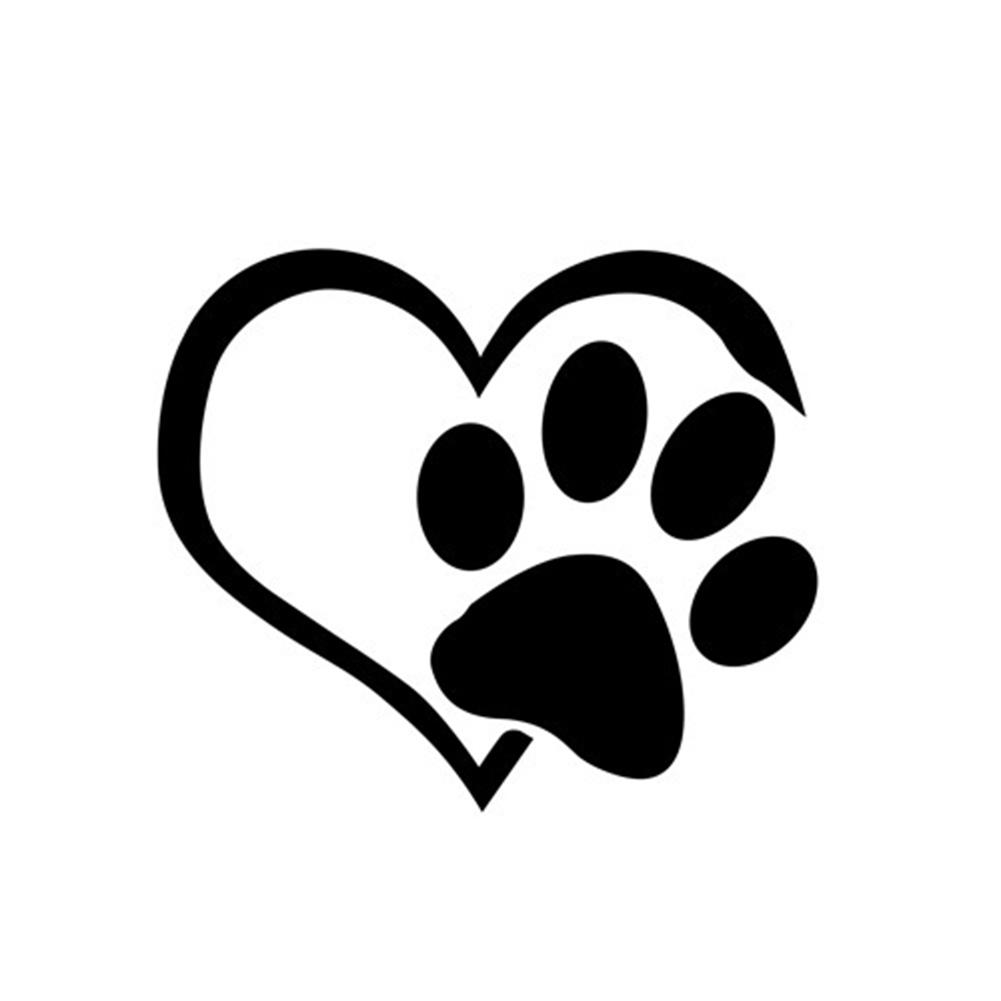 Lovely Pug Dog Heartbeat Reflective Car Vehicle Body Window Sticker Decals Decor