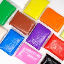 24 Color Modeling Clay Air Drying Diy Soft Polymer 100G/Bags Blocks Plasticine Kids Playdough