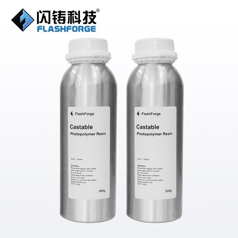 Flashforge Calcinabile Resina (verde) FH1200 per DLP 3D Stampanti, 1 Litro