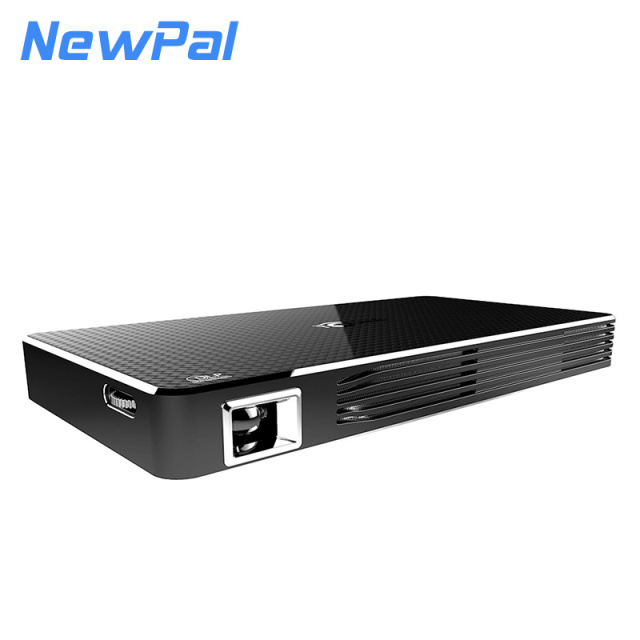 NewPal 3D DLP Projector WIFI 2000Lumen Pico Projector 1GB RAM+8GB ROM Android4.4 Short-throw Projector Home Game Video Projector