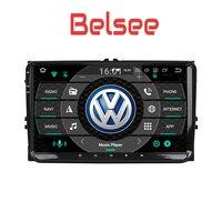 Belsee 2 Din Android 8.0 Car Multimedia Radio Player Navi VW Golf Passat Jetta Tiguan Amarok CC Beetle Polo Sharan Caddy SEAT