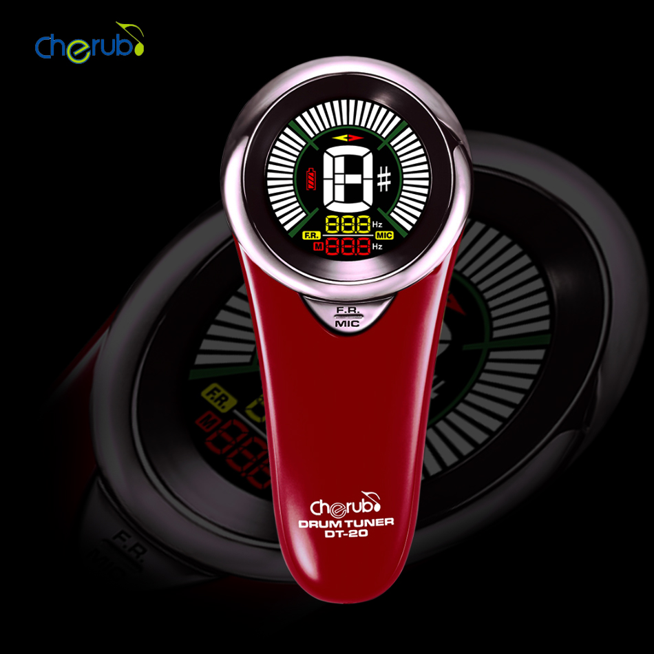 Cherub DT-20  Infrared Drum Tuner cherub dt 10 drum tuner accurate built in rechargeable battery mic pick up for drum set kit