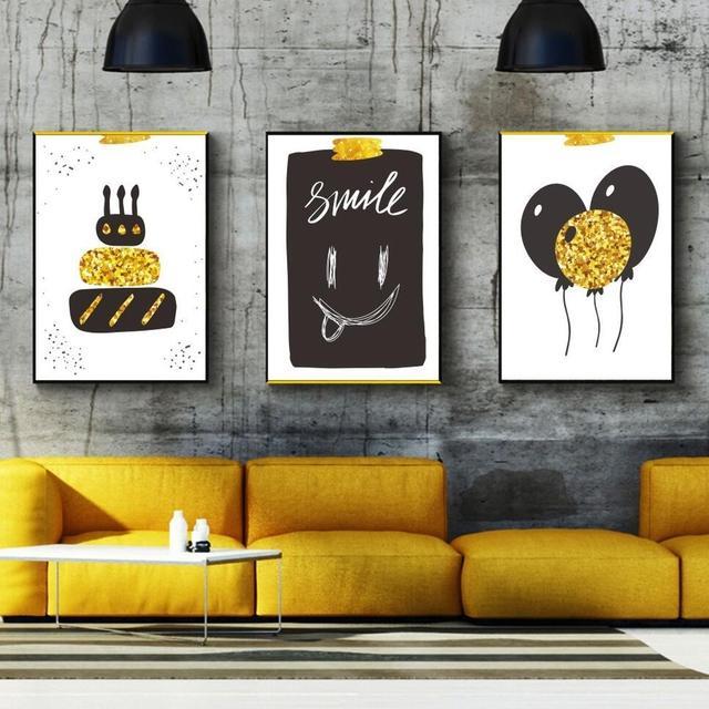Nordischen Stil Kinder Dekoration Cartoon Ballon Kuchen Leinwand ...