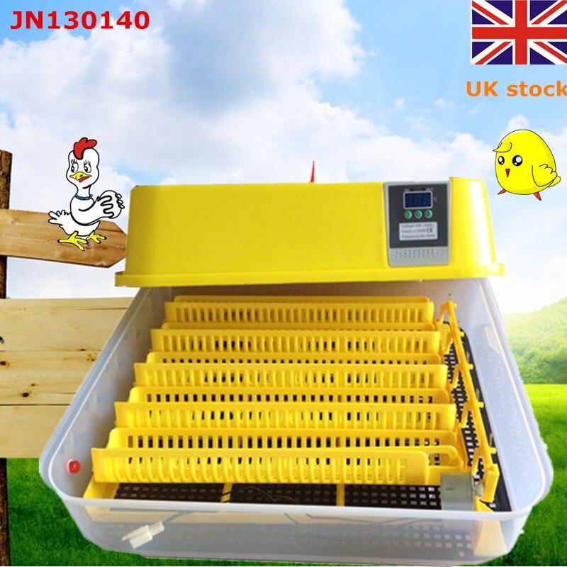 Automatic egg incubator 39 chicken hatchery machine 129 quail egg incubator high hatching rate UK stock top selling high quality full automatic 96 mini chicken egg incubator with high hatching rate