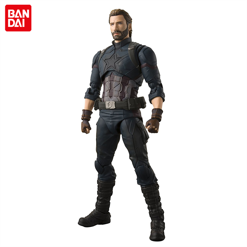 Japan Anime Avengers: Infinity War Original BANDAI Tamashii Nations S.H. Figuarts / SHF Action Figure - Captain America