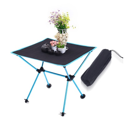 Durable Hiking Folding Table Travel Park Stable Outdoor Aluminium Alloy Ultra-light Desk BBQ Adjustable Portable Table LY140