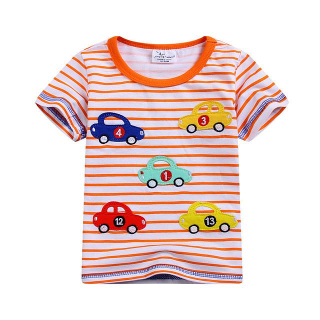 Camisa dos miúdos t verão crianças camisa carro t camisa dos miúdos t camisa do menino t moda camisas para meninos meninas roupas de manga curta C6034 #