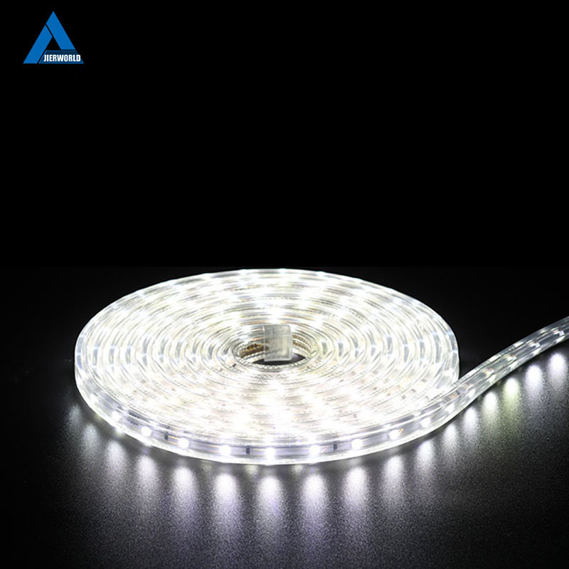 Waterdichte SMD5050 led tape licht AC 220 V SMD 5050 flexibele led strip 60 leds / Meter 220 v outdoor tuinverlichting met EU plug