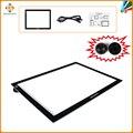 Gaomon led luz pad gb4 ultra-delgada caja de luz micro usb tablero de trazado para el dibujo y copiado con pad negro puck