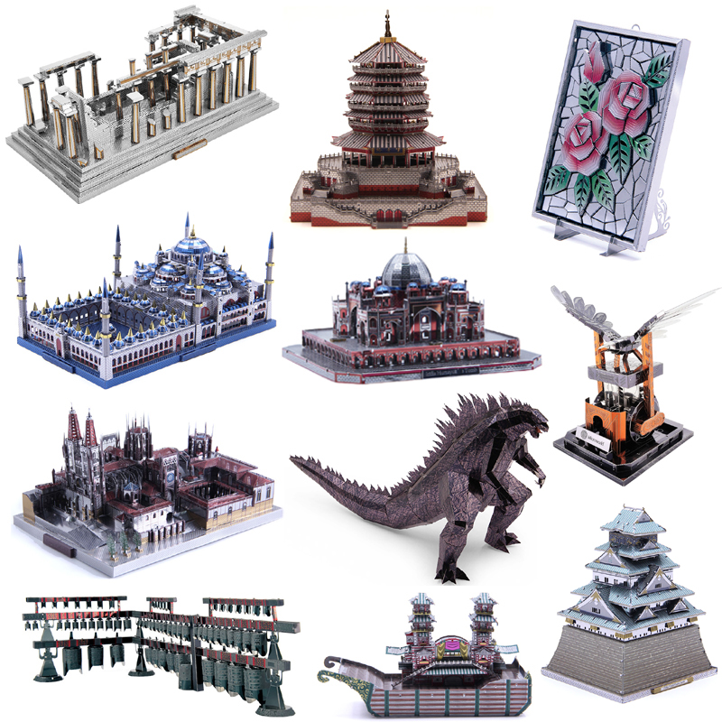 Microworld 3D Metal Puzzle Red Devils Scorpion Model Assembly Metal Model Kits DIY 3D Laser Cutting Model Puzzle Toys Gift