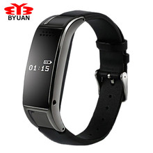 smart wristband bracelet watchband Bluetooth watch phone pedometer wearable sleep monitoring with leather band for men women
